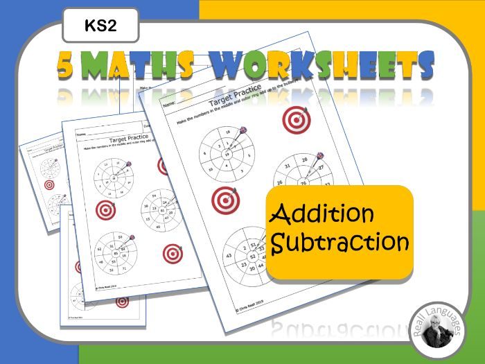 Maths Target Practice Addition Worksheets