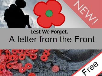 Free Lesson with Questions and Answers WW1 -  A letter from the front