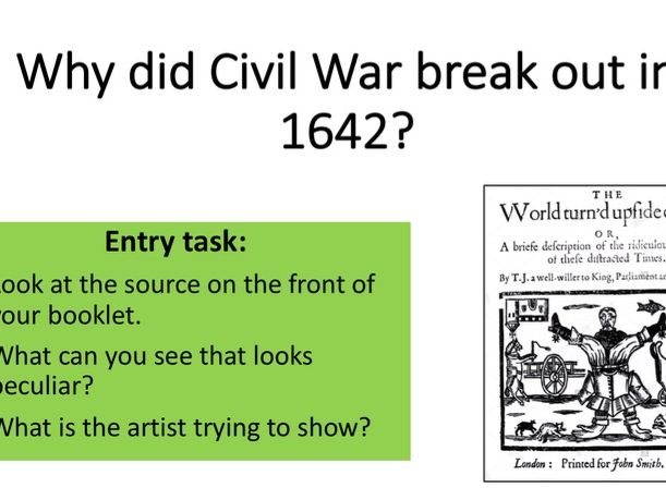 Why did the Civil War start? Charles I