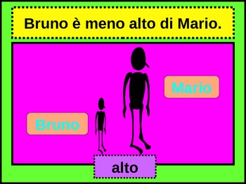 Comparazione (Comparison in Italian) power point