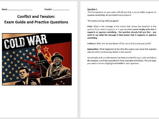 Conflict and Tension 1945-1972 Exam Guide and Practice Questions (AQA 9-1)