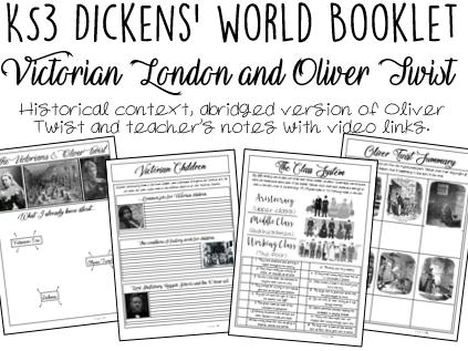 Dickens' World Booklet: Victorian London and Oliver Twist (KS3)