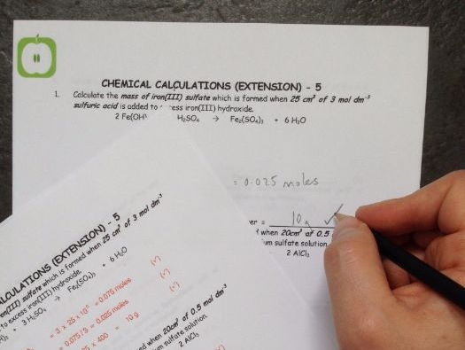 Chemistry: Extension Chemical Calculations