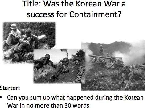 Cold War Containment Korea - Lesson 3