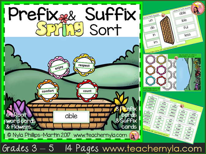 Spring Prefix and Suffix Matching Game