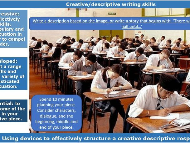 AQA Language Paper 1 Question 5 Exploration in Creative Writing KS3 or KS4