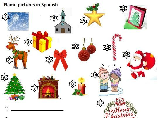 Christmas Navidad Spanish Spelling Worksheet Crossword Puzzles Definition 22 pg