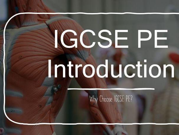 GCSE PE Introduction Lesson