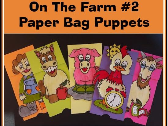 On the Farm #2 Paper Bag Puppets
