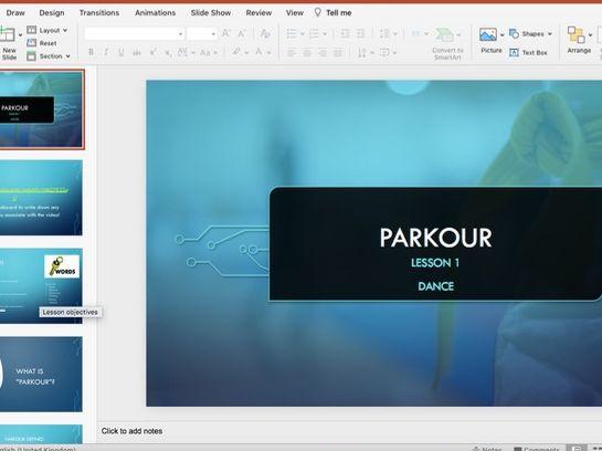 KS3 Parkour Dance SOW