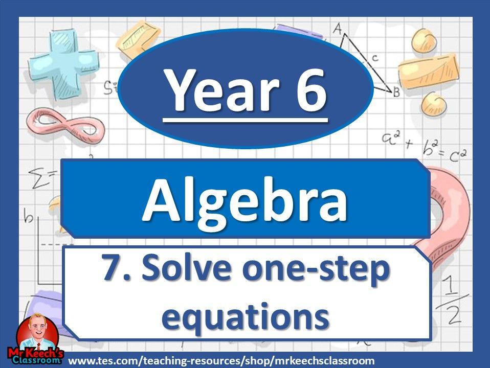 Year 6 - Algebra - Solve one-step equations- White Rose Maths