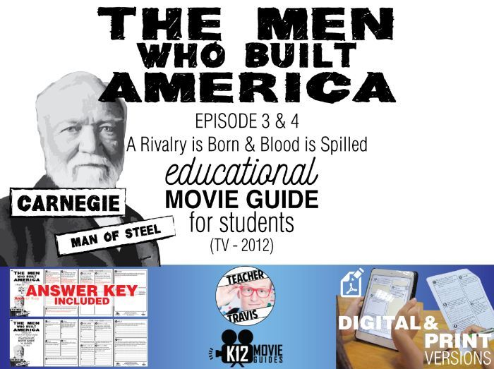 The Men Who Built America - Ep 3 & 4 Movie Guide | Worksheet (TV - 2012)