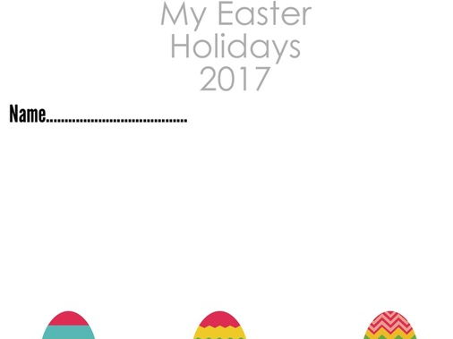 My Easter holidays - homework diary