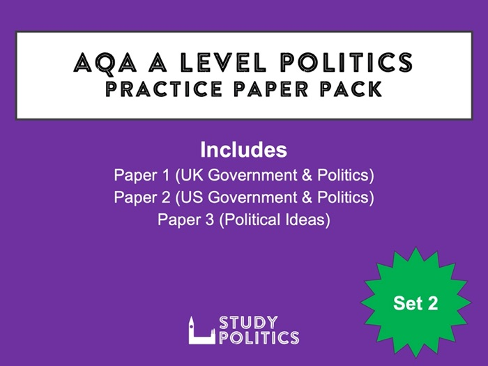 AQA A Level Politics Practice Papers: Set 2