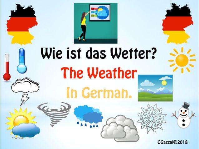 The Weather in German – Wie ist das Wetter?