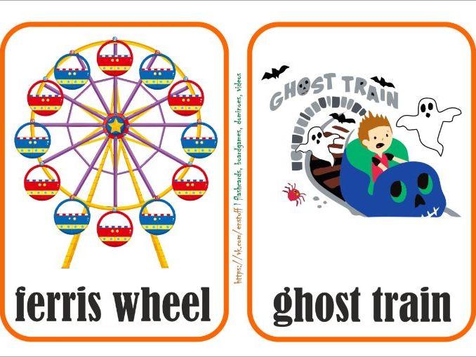 "flashcards ""an amusement park"""