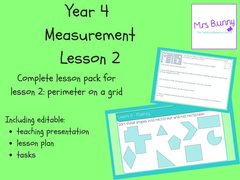 2. Measurement: perimeter on a grid lesson pack (Y4)