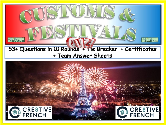French Quiz Customs and Traditions