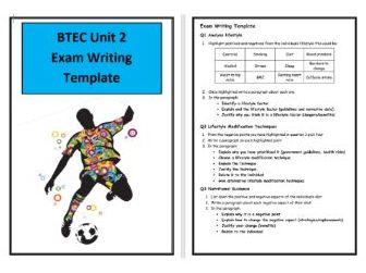 BTEC Sport- Level 3 - Unit 2 - Exam Writing Template