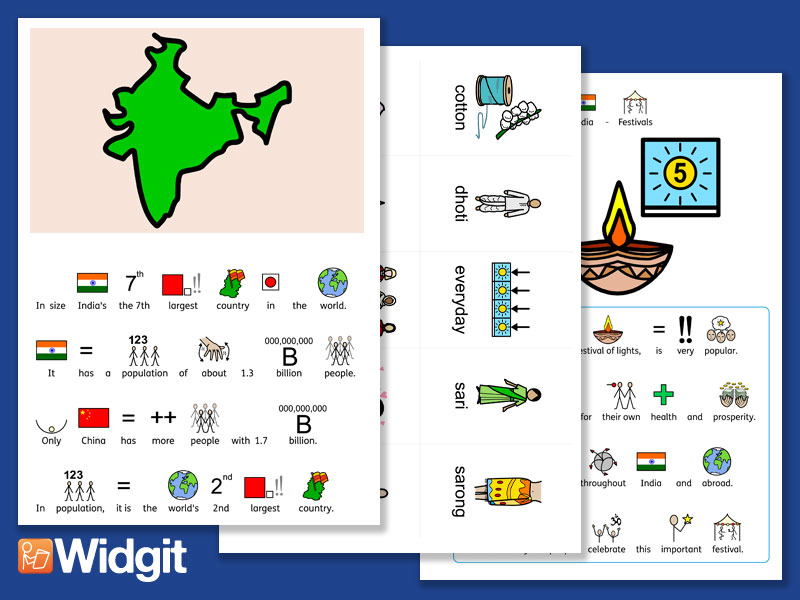 India - with Widgit Symbols
