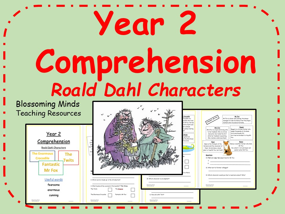 Year 2 comprehension - Roald Dahl character descriptions