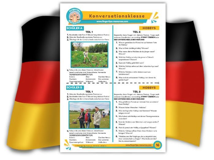 Hobbys - German Speaking Activity