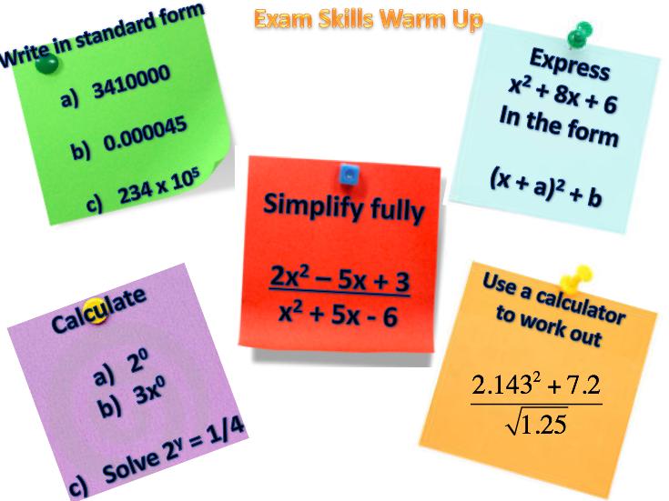 GCSE Skills Warm Up