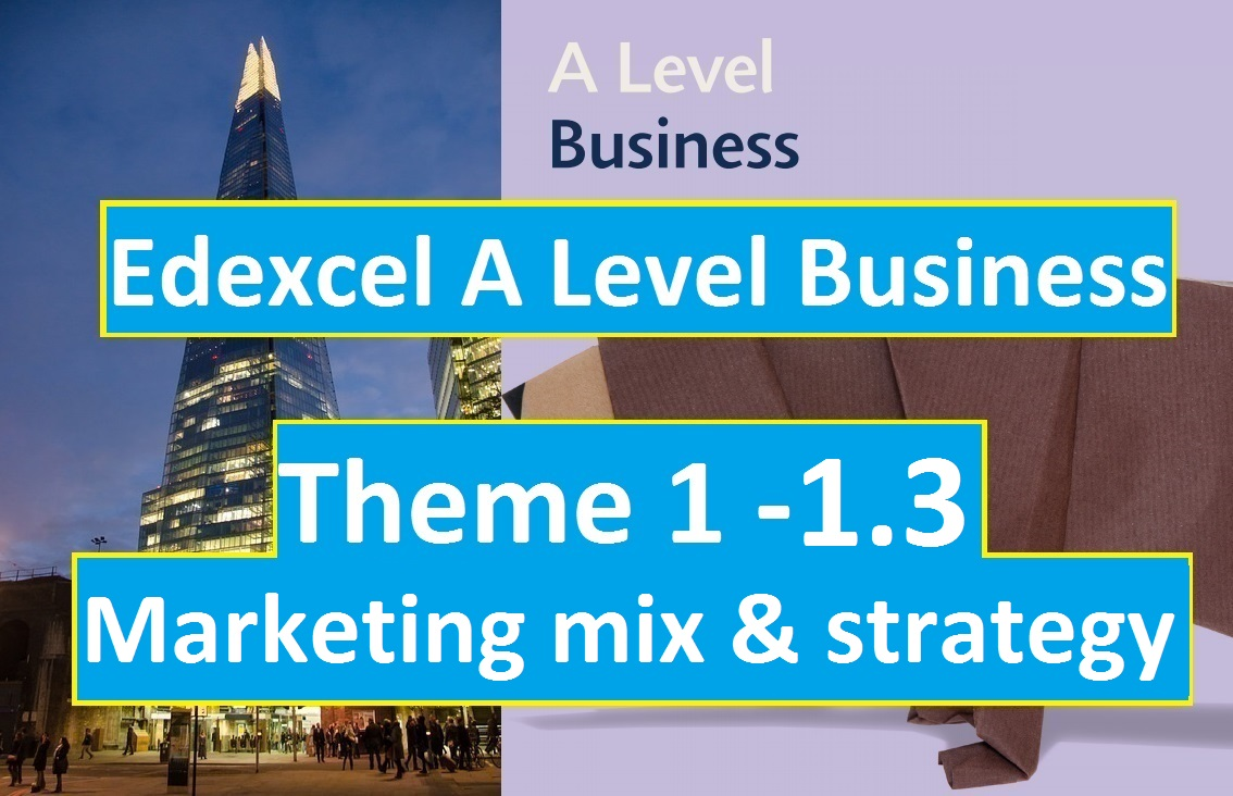 Edexcel A Level Business Theme 1 - 1.3 Marketing mix and strategy