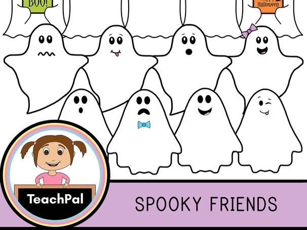 Spooky Friends - Halloween Ghost Clip Art