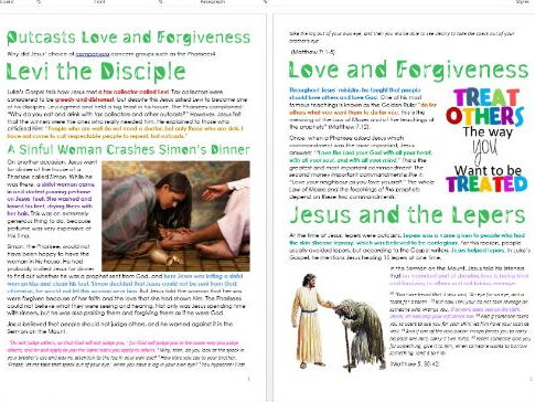 Outcasts, Love and Forgiveness in the New Testament: Differentiated Activity Sheets