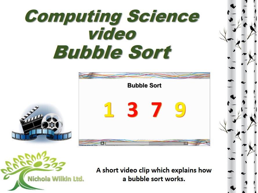 Computer science video – Bubble sort