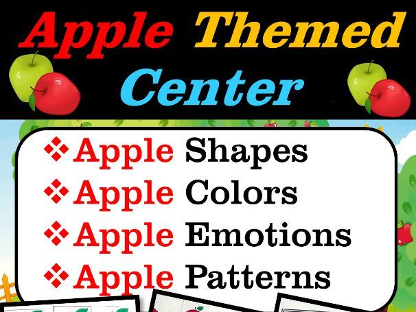 Apple Theme Shapes, Colors, Emotions, Patterns  Apple Math   Back to School