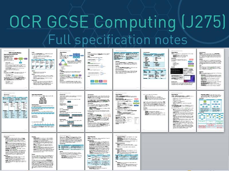 OCR Computing GCSE (J275)-Revision Notes