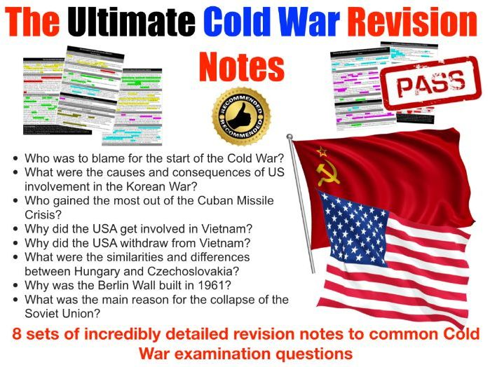 Cold War Exam Revision Pack - 8 topics, 12 pages