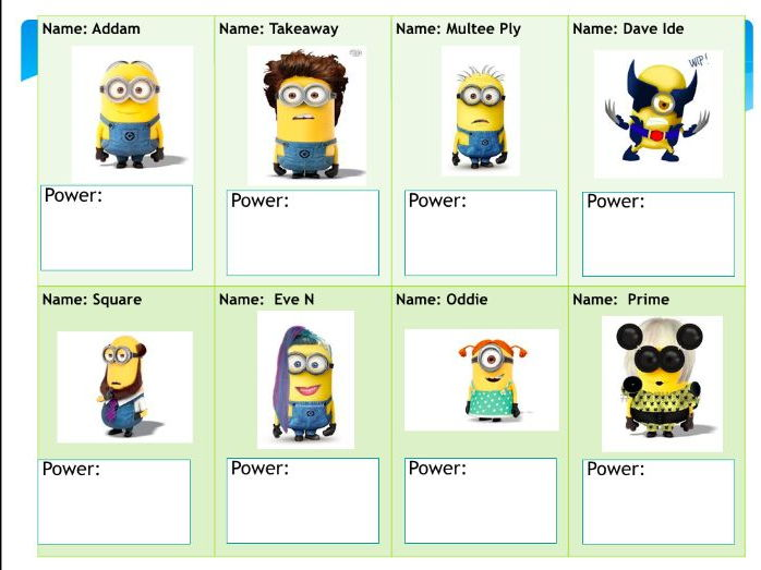 Minion Maths!