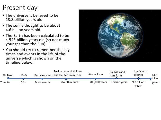 iGCSE Physics - Evolution of the Universe (PowerPoint & Worksheet)