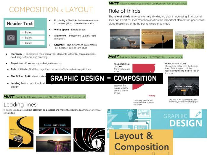 Research COMPOSITION | KS3/4 DT GRAPHIC Design