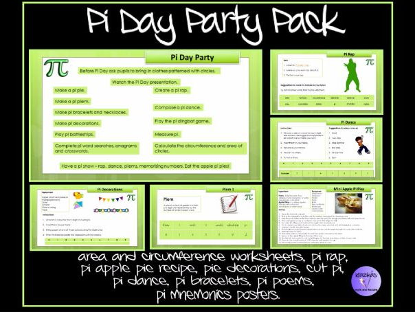Pi Day Party Pack Jam Packed Full Of Activities For Pi