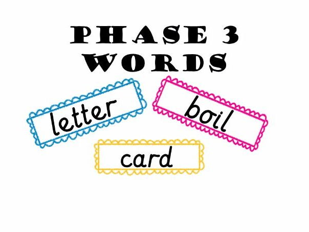 Phase 3 Word Cards