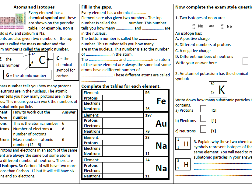OCR GCSE Gateway Chemistry C1 Revision Pack