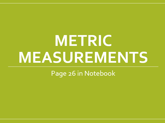 Metric and Imperial Units