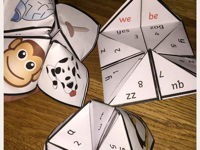 Fortune tellers  Phase 2 / initial sounds Letters and Sounds Reception / Y1 Phonics