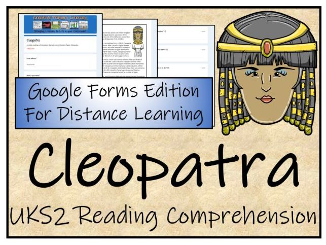 UKS2 Cleopatra Reading Comprehension & Distance Learning Activity