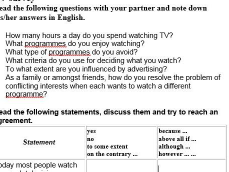 IELTS survey: TV interview