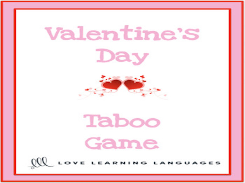 ESL - ELL  Valentine's Day Vocabulary Taboo Game