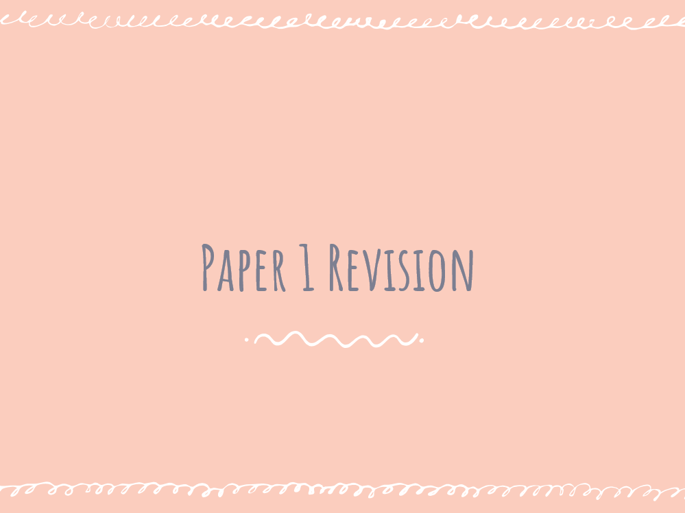 AQA Chemistry Paper 1 Revision