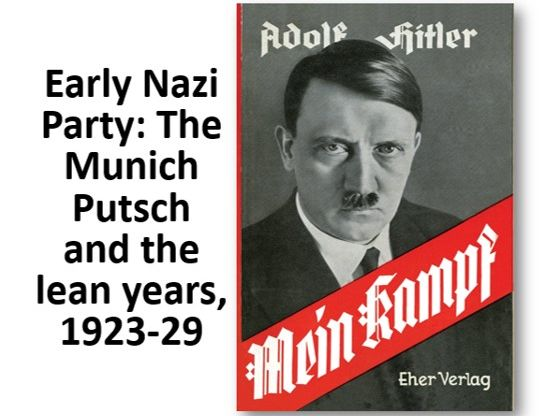 The Munich Putsch and the lean years of the Nazi Party, 1923-9