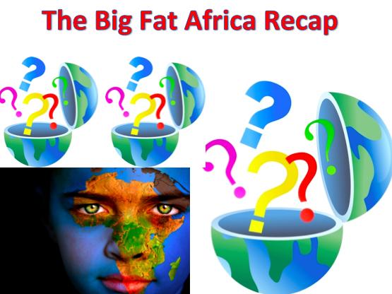 KS3 Africa - The Big Fat Africa RECAP