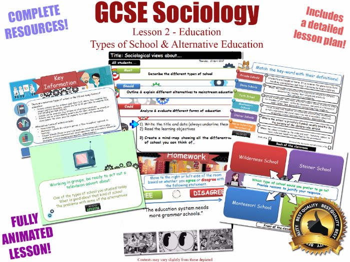 Types of School & Alternative Education - Sociology of Education L2/20[ WJEC EDUQAS GCSE Sociology ]