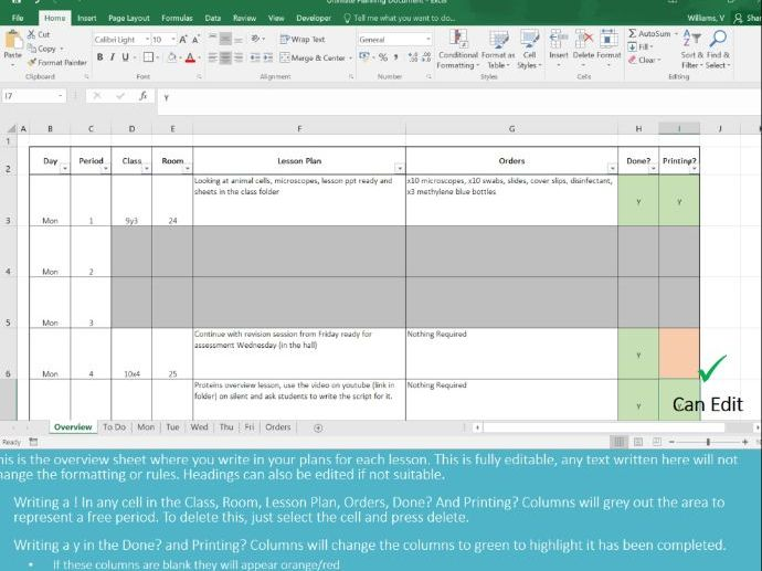 FREE Ultimate Teacher Planner Organiser Diary Digital Online